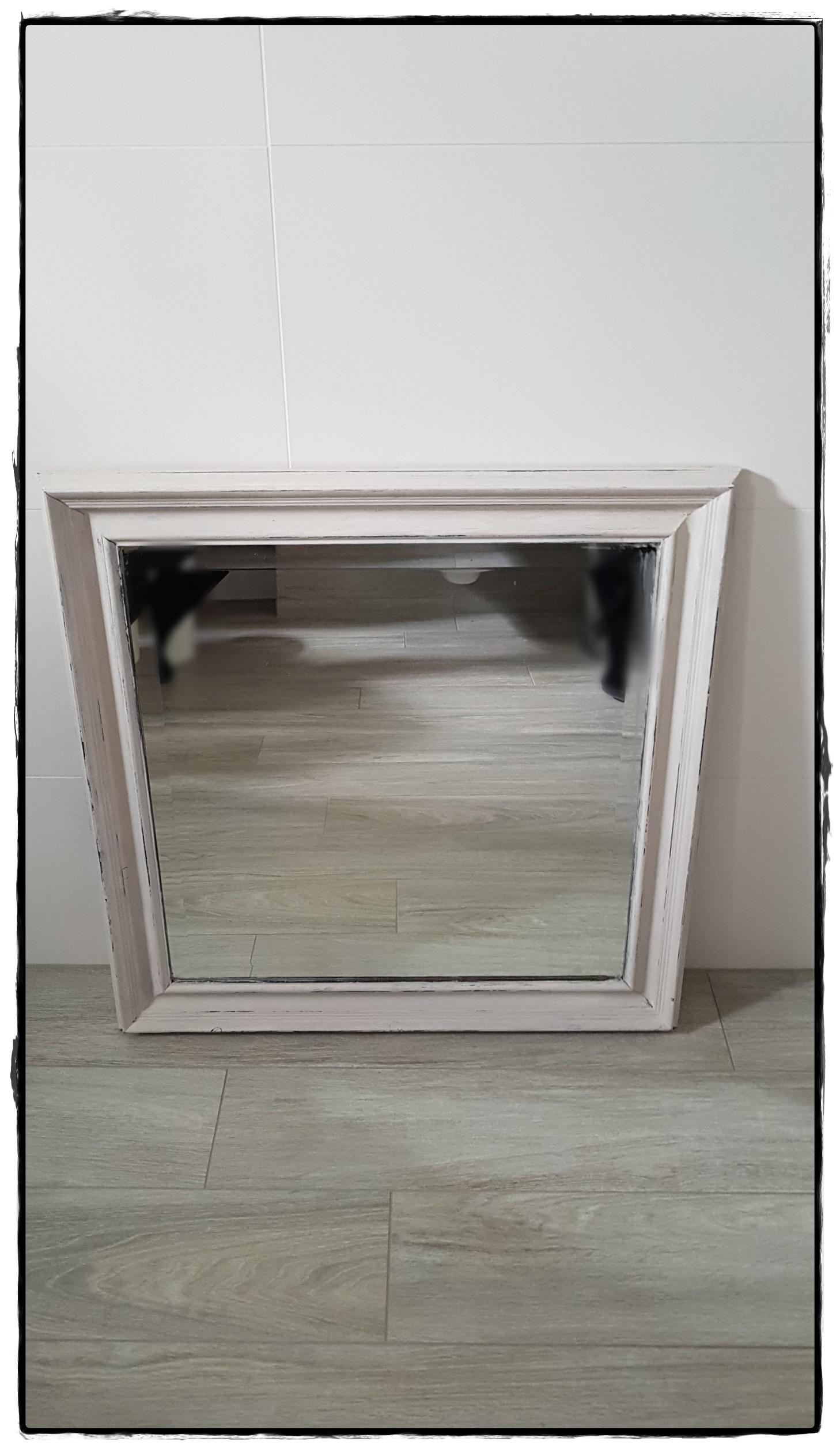 Spiegel vierkant wit6