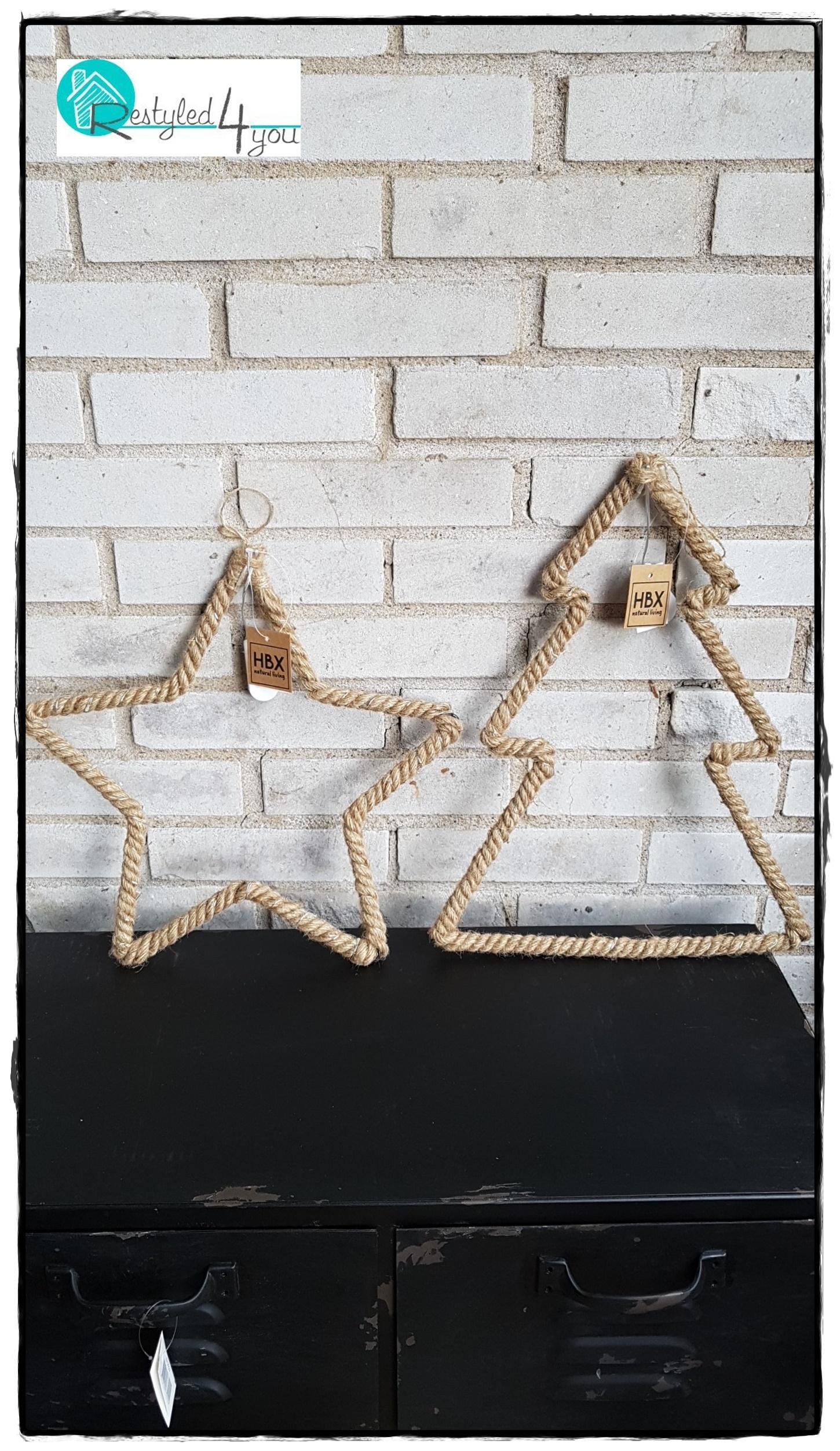Ster en kerstboom touw